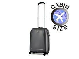 Mała walizka PUCCINI ABS01 Barcelona szara antracyt