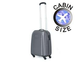 Mała walizka PUCCINI ABS02 C szara antracyt
